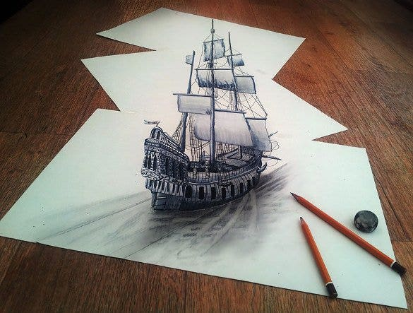 titanic ship 3d drawing template1