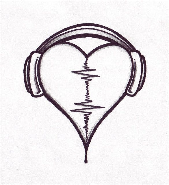 love music drawing template