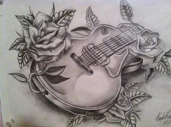 guitar drawing template1