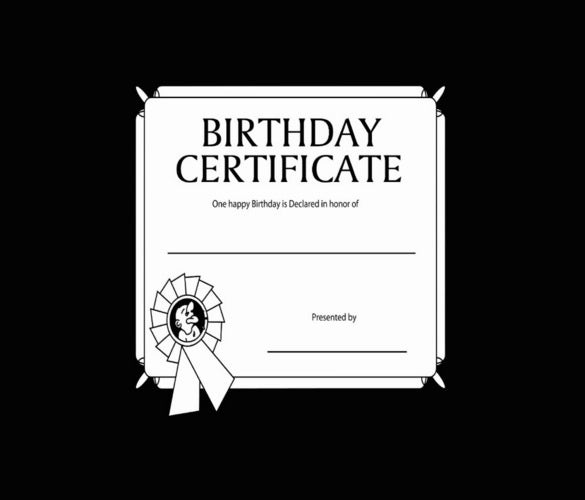 colorful background birthday certificate