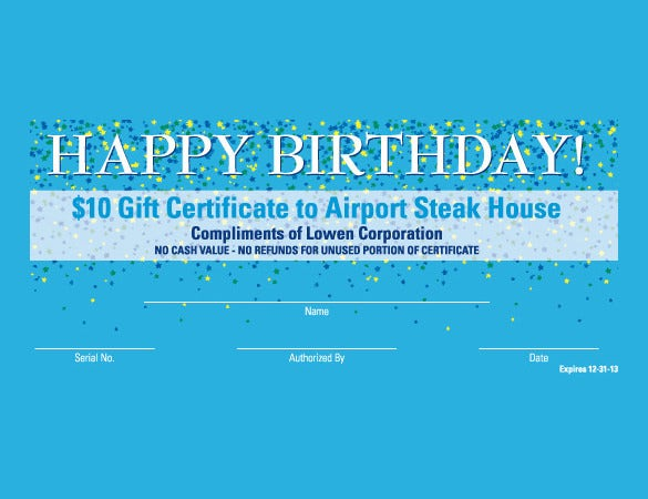 unique birthday certificate template