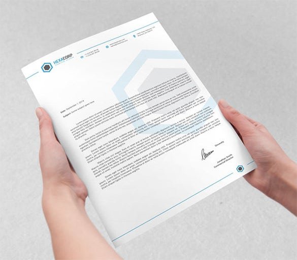 corporate letterhead stationary template eps format download