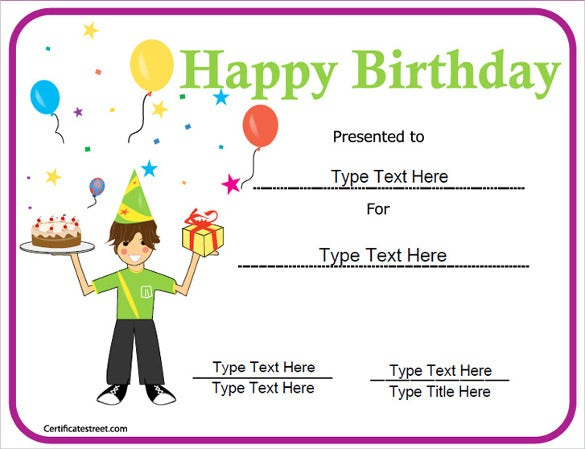 21 Birthday Certificate Templates Free Sample Example Format – Happy Birthday Certificate Templates