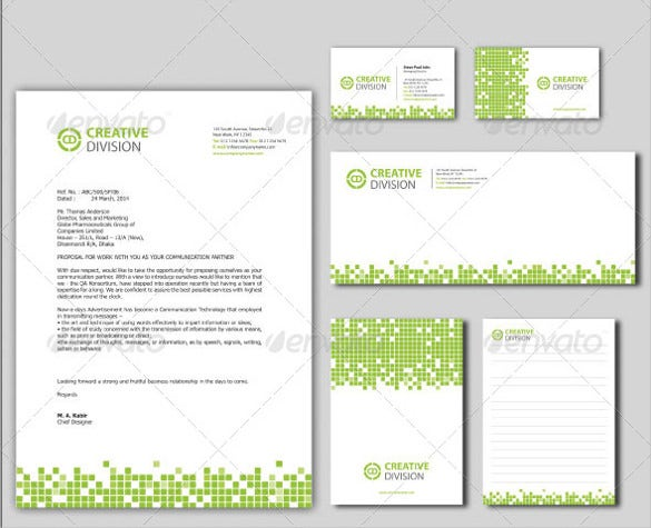 corporate stationery template ai illustrator format download