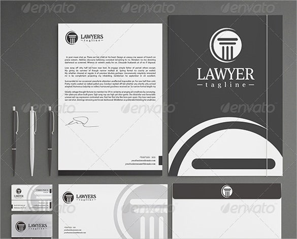 law firm stationery letterhead template psd download