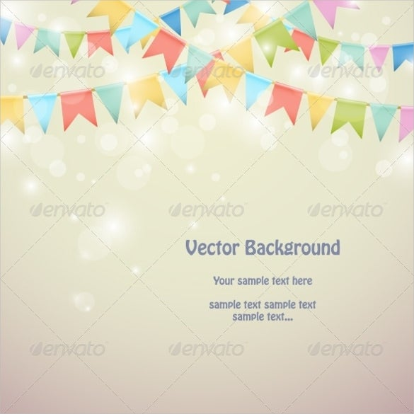 party triangle banner template