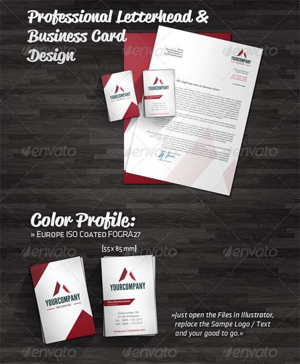 professional letterhead template design premium download