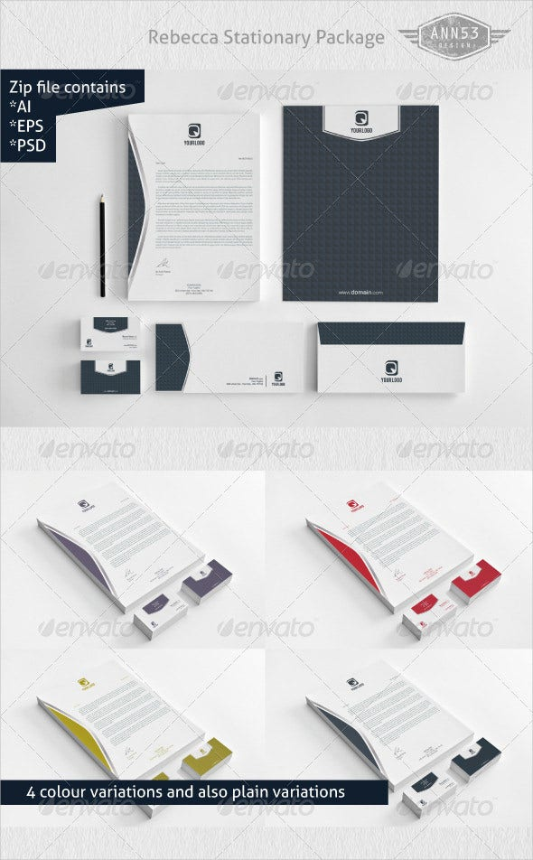 premium rebecca stationery design legal letterhead template