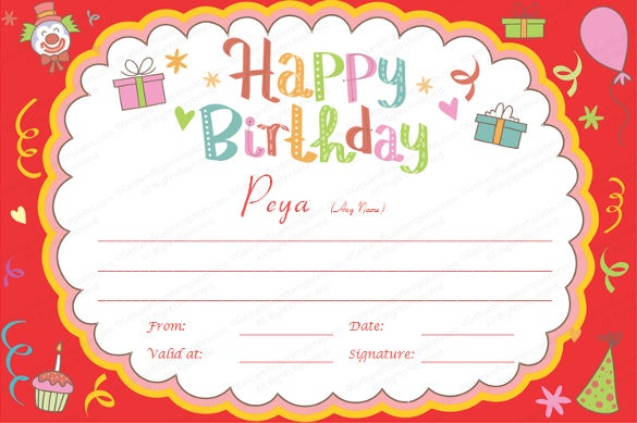 21+ Birthday Certificate Templates - Free Sample, Example, Format