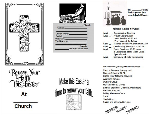 easter brochure free pdf template download