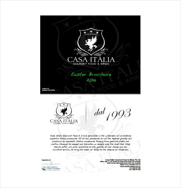 casa italia easter brochure template download