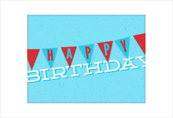 birthday triangle banner template1