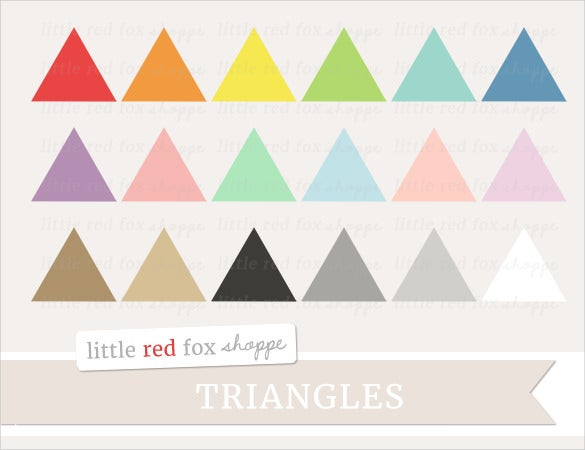 printable triangle banner template