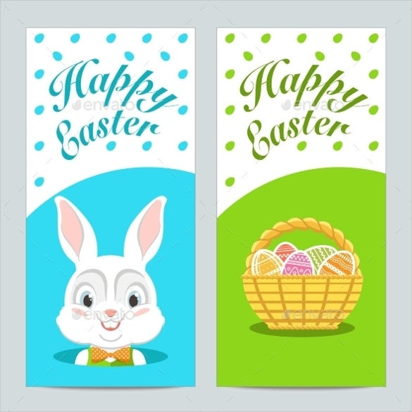 brochures with happy easter with easter bunny vector eps download1