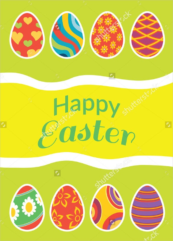 easter brochure in egg style template download