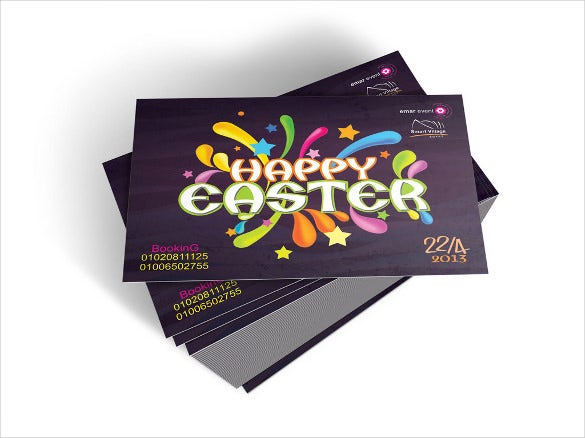 easter brochure in purple colour template download