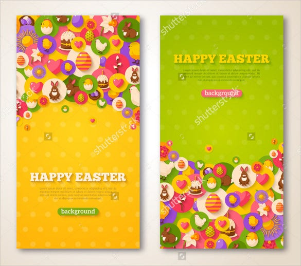 easter brochure illustratour template download