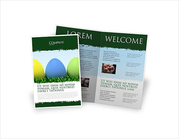 easter eggs brochure template download