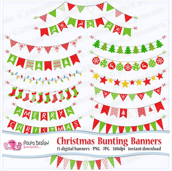 christmas triangle banner template