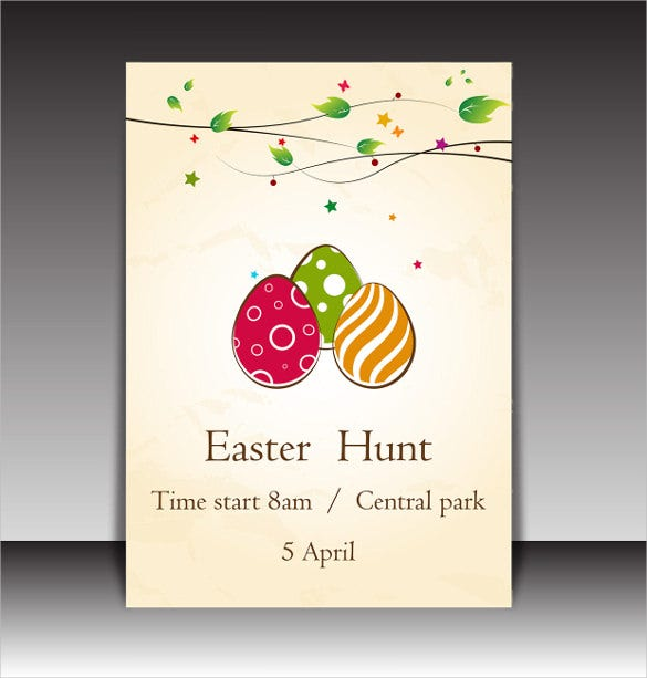 easter day flyer brochure cover template download