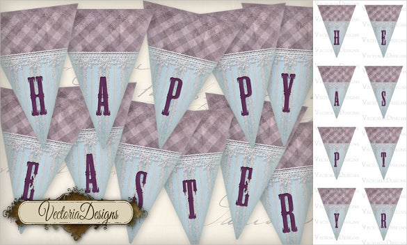 easter triangle banner template