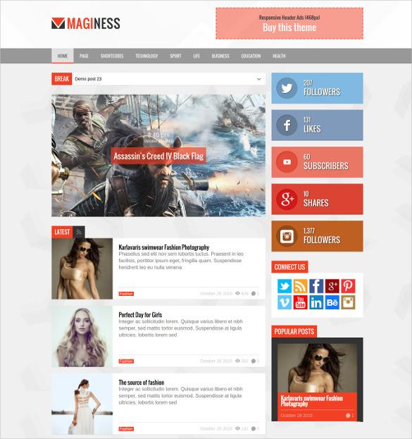 flexible magazine news joomla theme