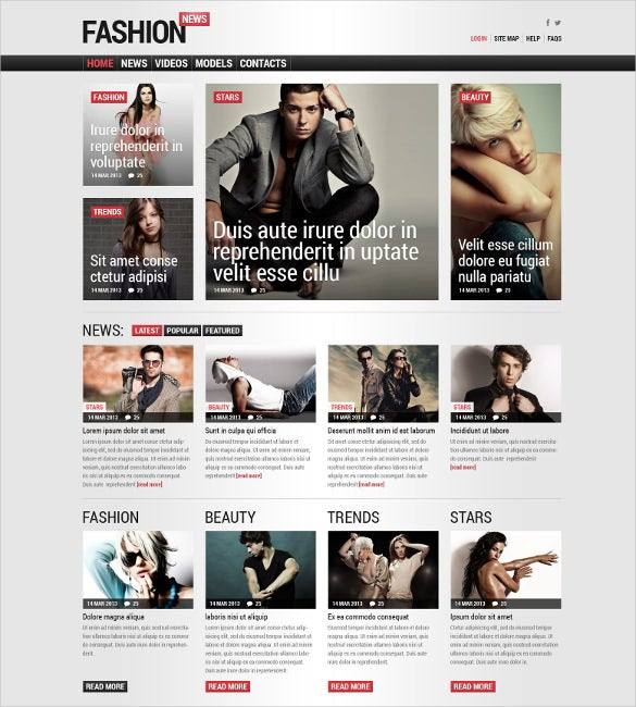 fashion magazine responsive joomla template