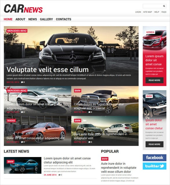 car magazine responsive joomla template