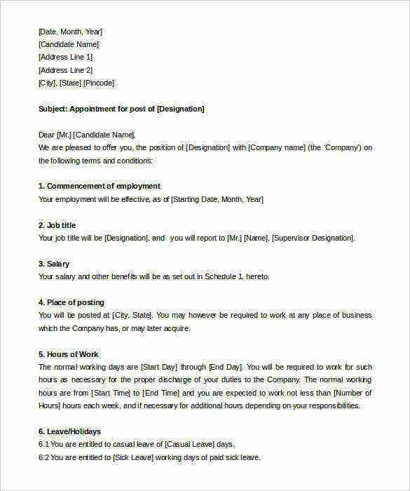 hr manager appointment letter format template for free1 112