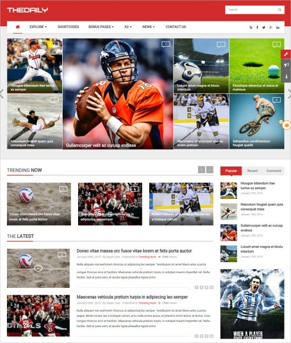 simple responsive news magazine portal joomla template