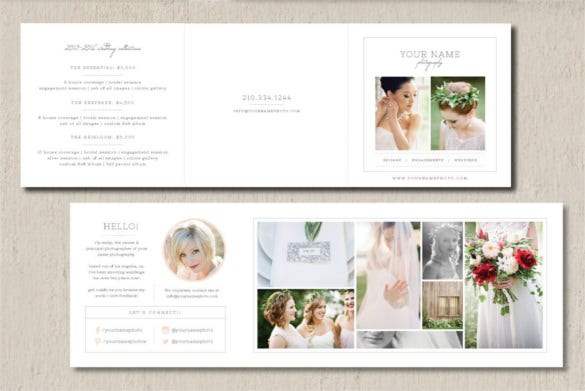 wedding photography brochure template - price list template 19 free word excel pdf psd