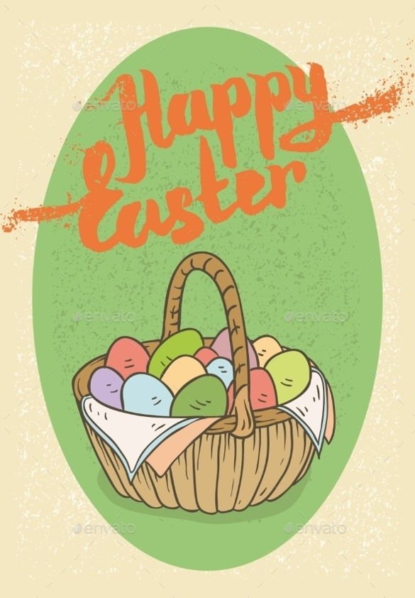 happy easter postcard download