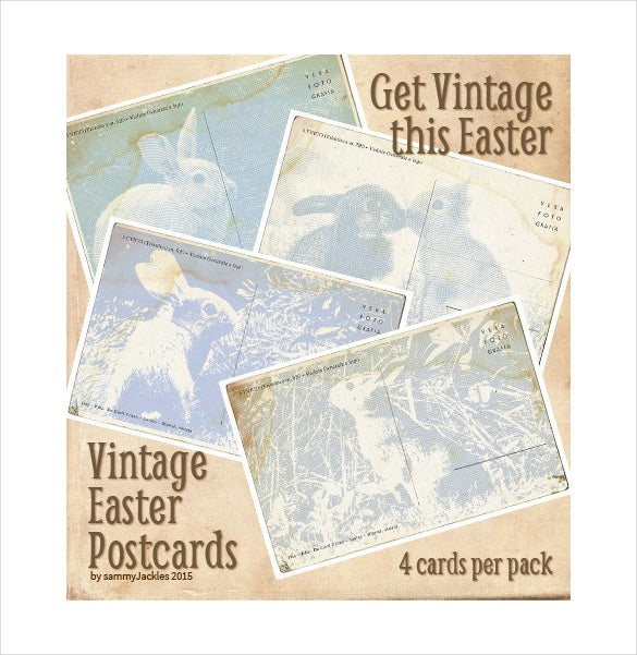vintage easter postcards template download