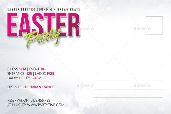 Easter Postcard Template   Free Psd Eps Format Download  Free