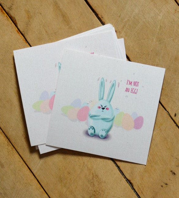 easter and spring postcards template download