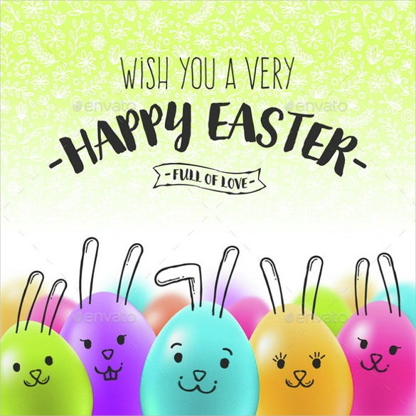 Easter Greeting Cards Template   Free Psd Eps Format Download