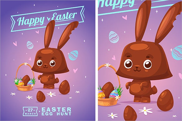 Easter Greeting Cards Template   Free Psd Eps Format