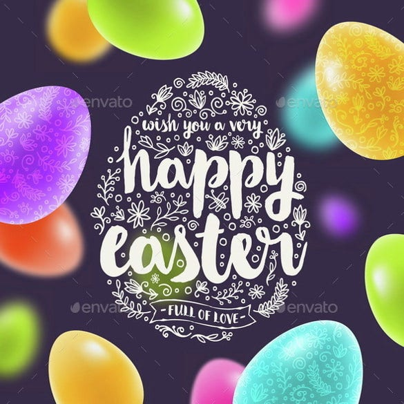 easter greeting card ai illustrator vector eps template download0a