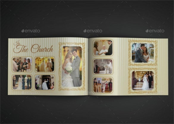 16 pages wedding album template indd format