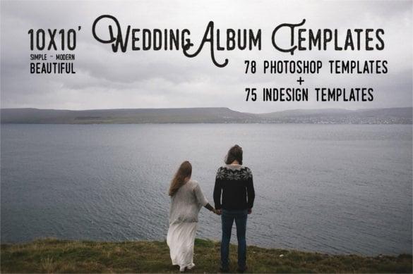 10x10 wedding album templates psd download