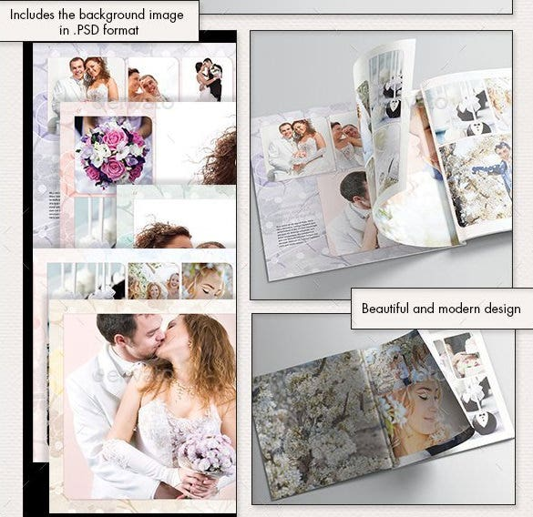 Photobook Wedding Album Template PSD Format  Free Album Templates
