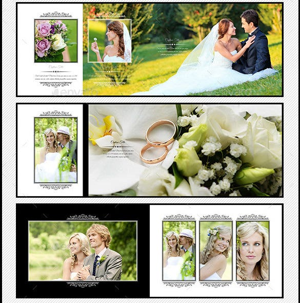 landscape wedding photo album template psd download