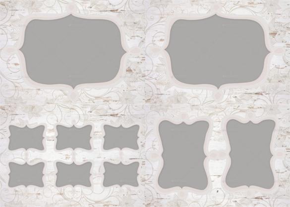 blank wedding photo album template european style