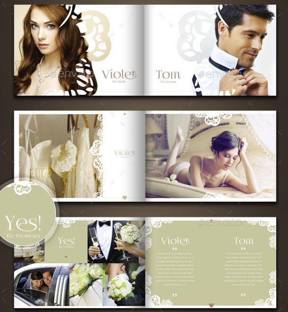 premium psd wedding photo album horizontal template