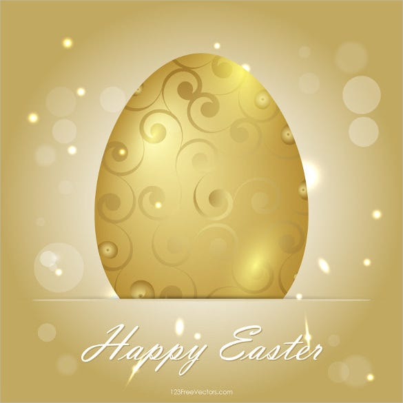 golden easter egg background vector download