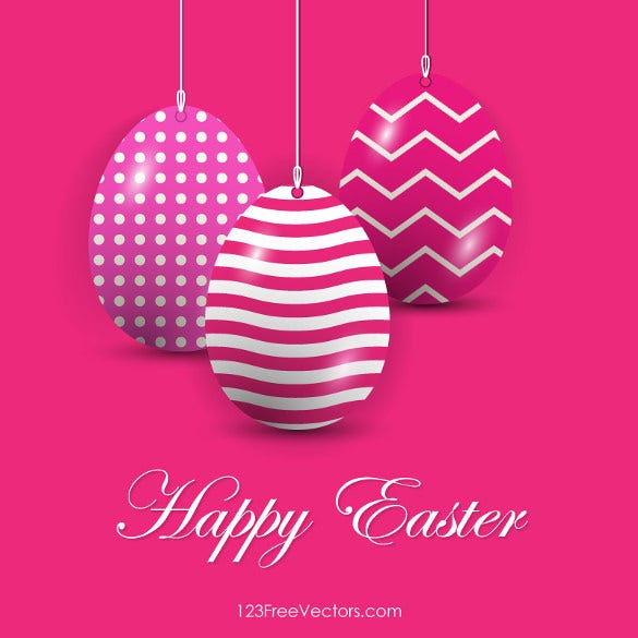 easter eggs in pink background vector download