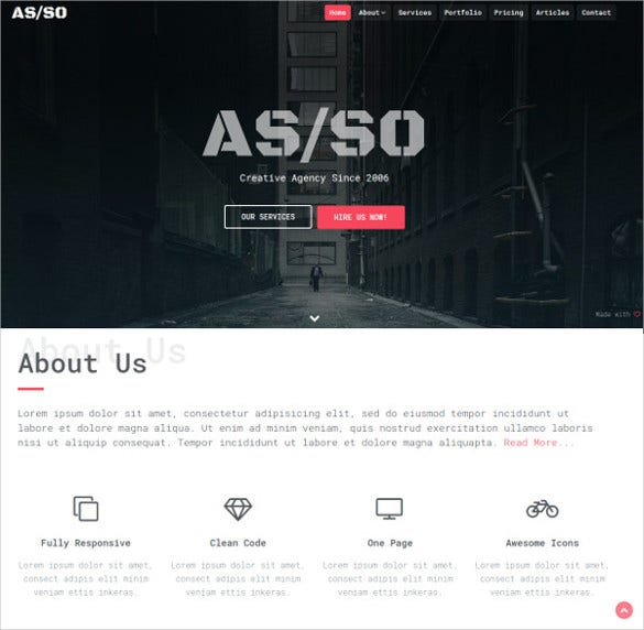 asso – one page html5 template