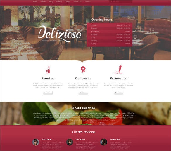 delicioso restaurant wordpress html5 theme1