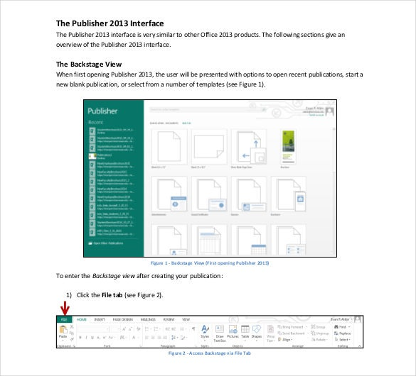 Microsoft Publisher 2013 Brochure Free PDF Template  Ms Word Pamphlet Template