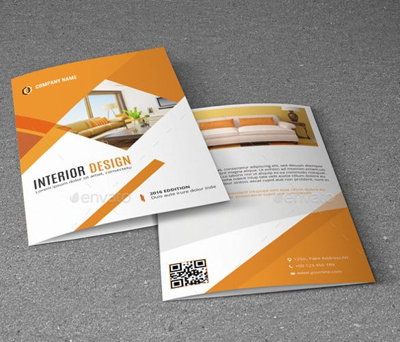 interior bifold brochure is for interior design